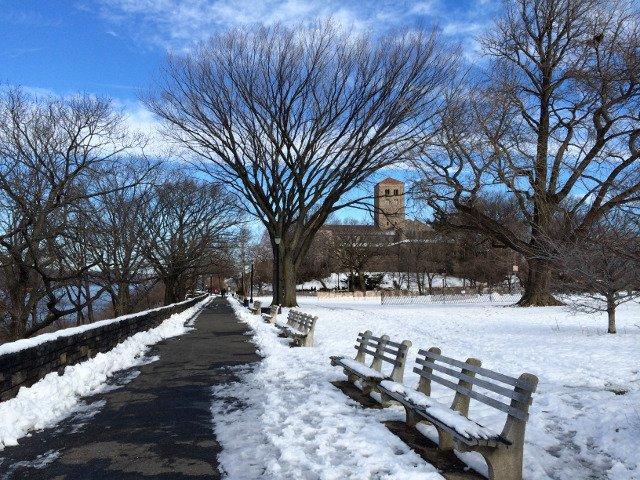 Fort Tryon Park en invierno Nueva York