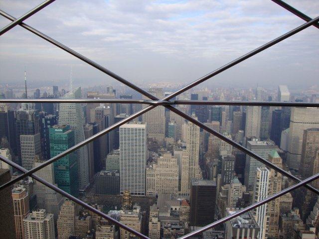 Vistas a traves de las rejas Empire State