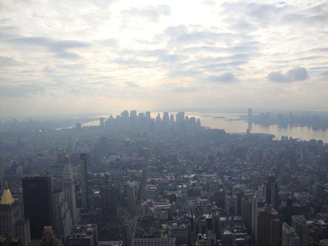 Vistas de Bajo Manhattan desde el Empire State