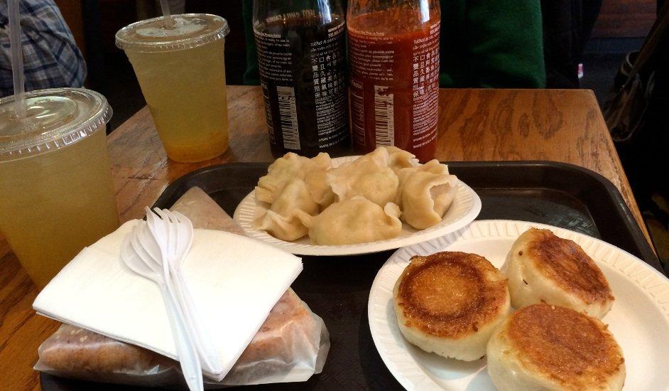 Nuestro almuerzo en Vanessa's Dumplings
