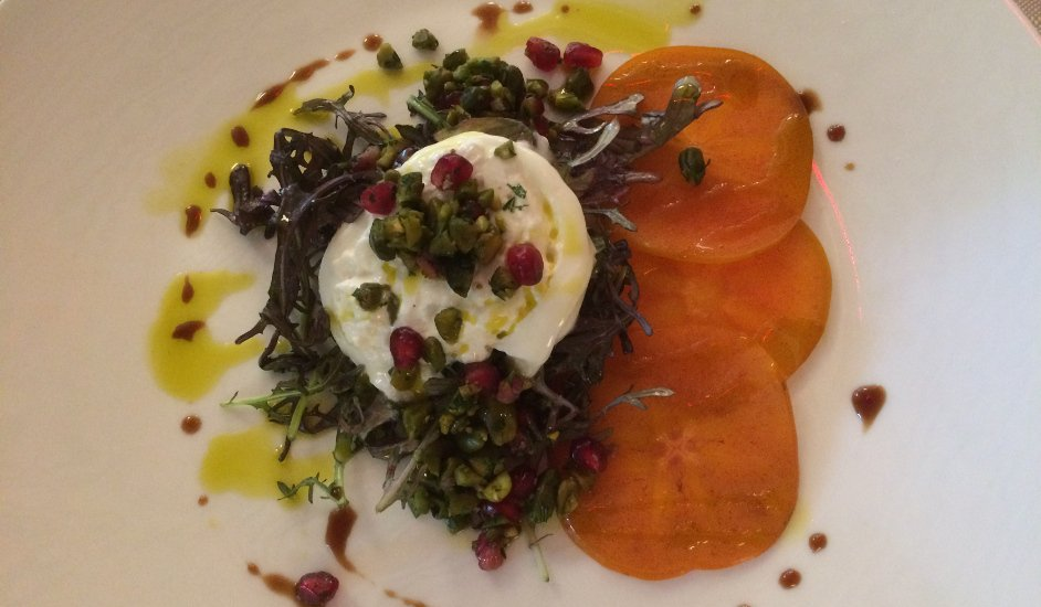 Ensalada burrata Ristorante Morini en el Upper East Side Manhattan