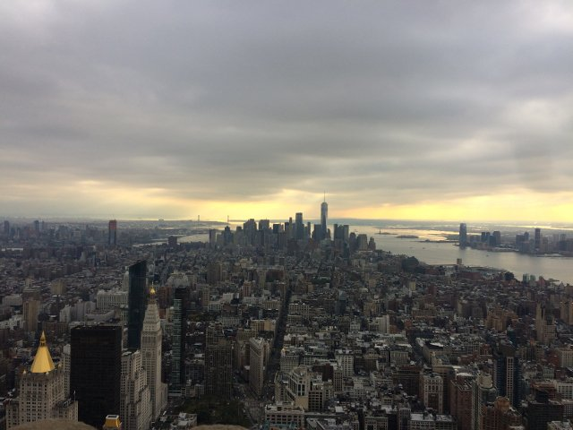 Vistas desde el mirador del Empire State con la New York Pass
