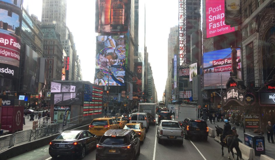 Portada Times Square visto desde el Big Bus con la New York Pass