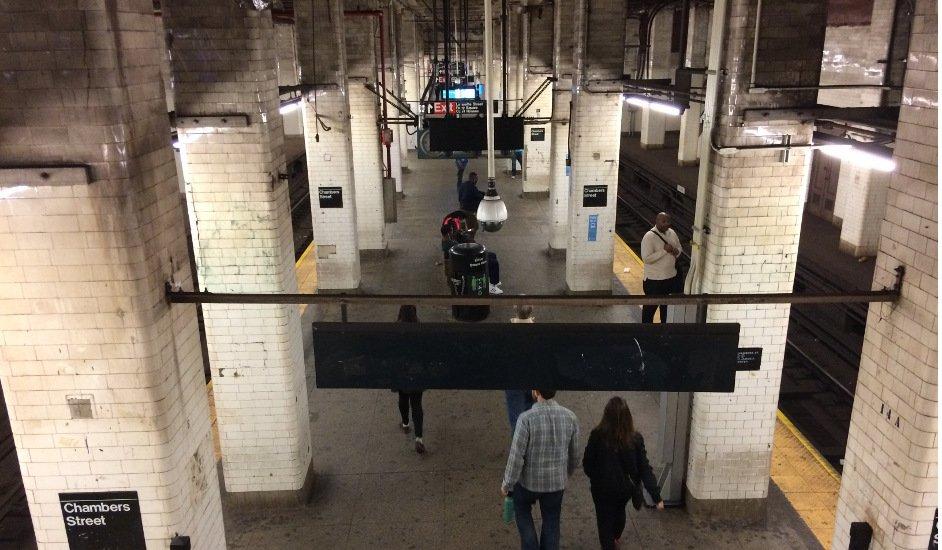 Portada Estación de Chambers Street en el Behind the Scenes Tour del metro de Nueva York