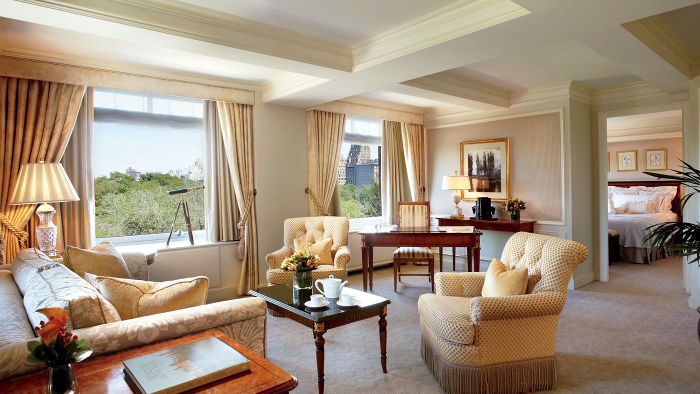 Suite con vistas a Central Park en el Hotel Ritz Carlton New York