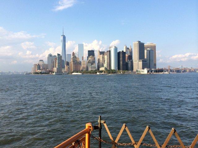 Vistas desde el ferry de Staten Island