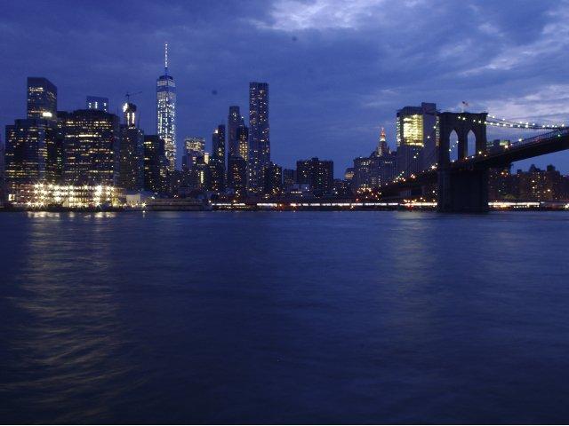 Vistas del skyline desde Brooklyn Park