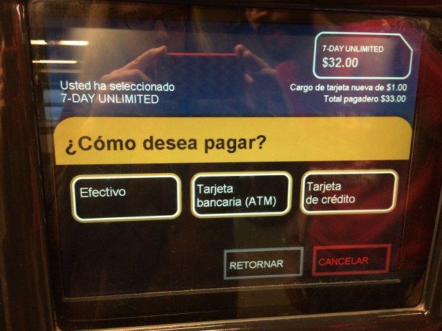 Aquí se elige cómo pagar la metrocard