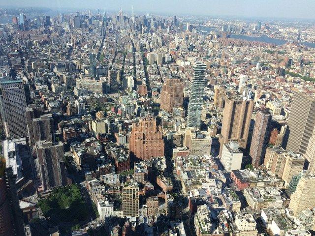 Vistas de la ciudad desde el One World Observatory
