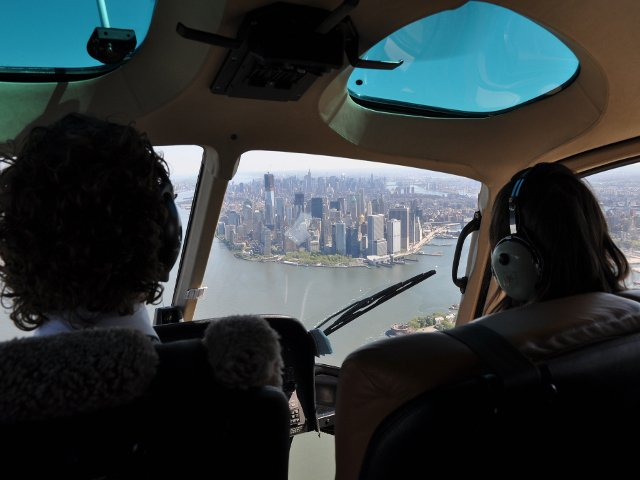Manhattan visto desde un helicóptero