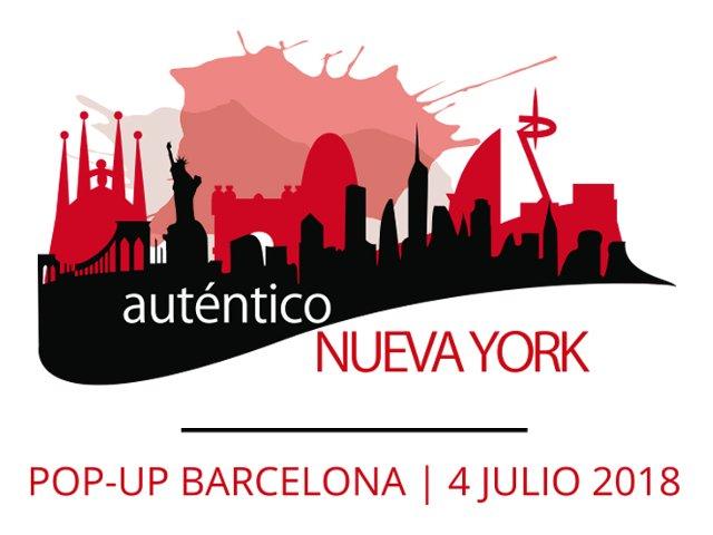 Logo oficial del Evento Pop-up del 4 de julio de Auténtico Nueva York