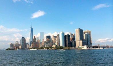 Bajo Manhattan visto desde el Staten Island Ferry