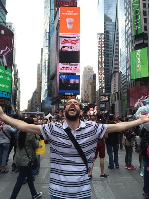 Pedro en Times Square