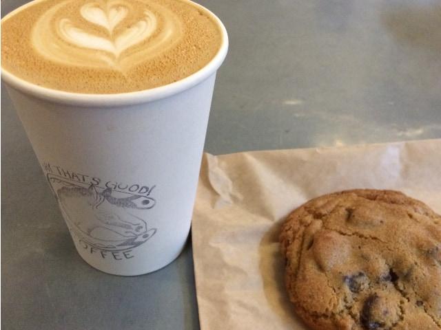 Culture Espresso está en Midtown y sirven excelentes galletas de chocolate