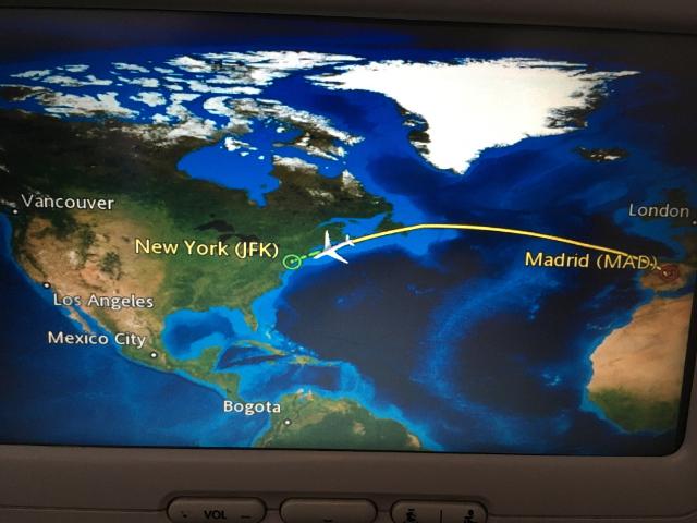 Volando a Nueva York en grupo