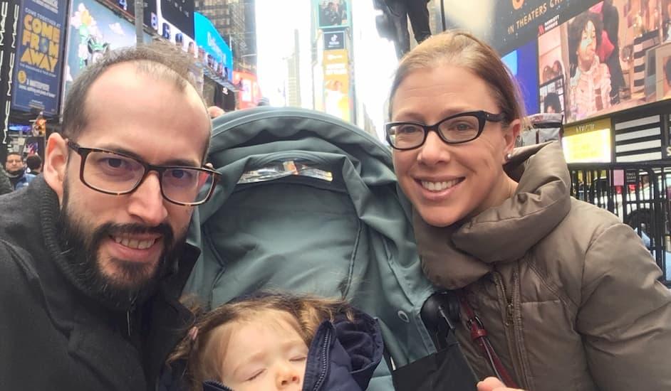 Familia en Times Square