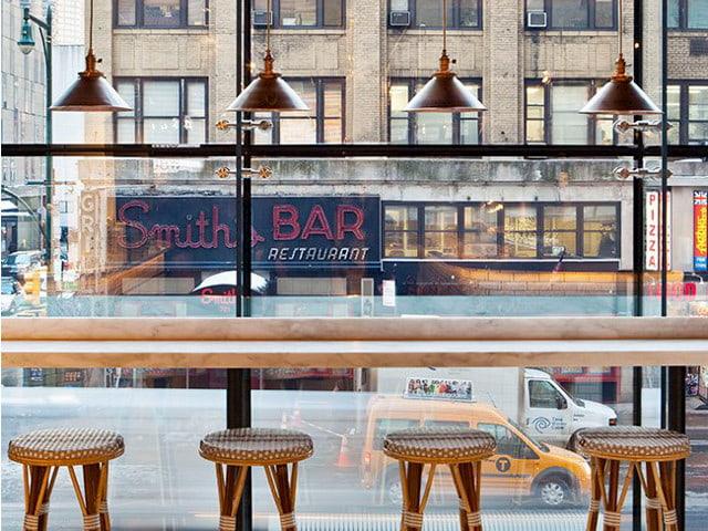 Vistas de la ciudad desde el Café del Hotel Row NYC