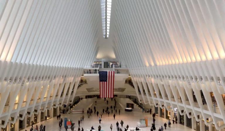 Interior del Oculus en Nueva York