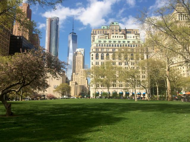 Battery Park desde dónde se sale a la Estatua de la Libertad