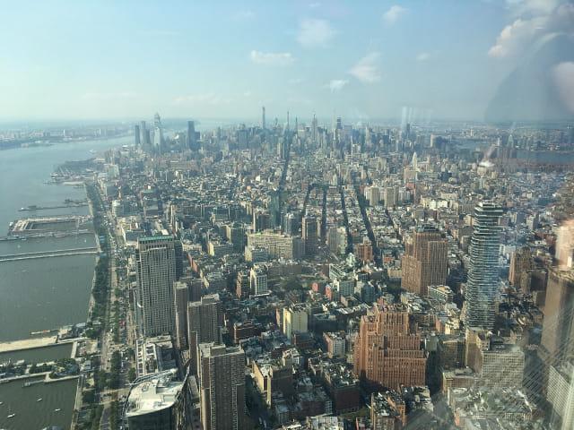 Vistas desde el One World en Nueva York