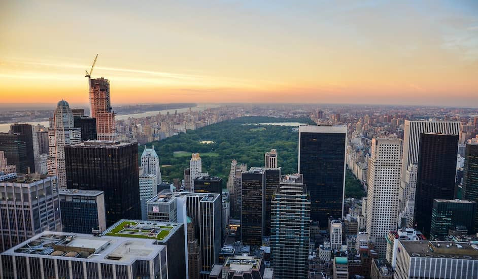 Central Park desde una azotea