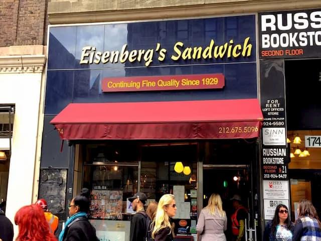 Eisenberg's sandwich es muy conocido en Nueva York