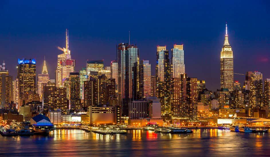 Panorámica que podrás hacer en el Tour Nocturno de Nueva York