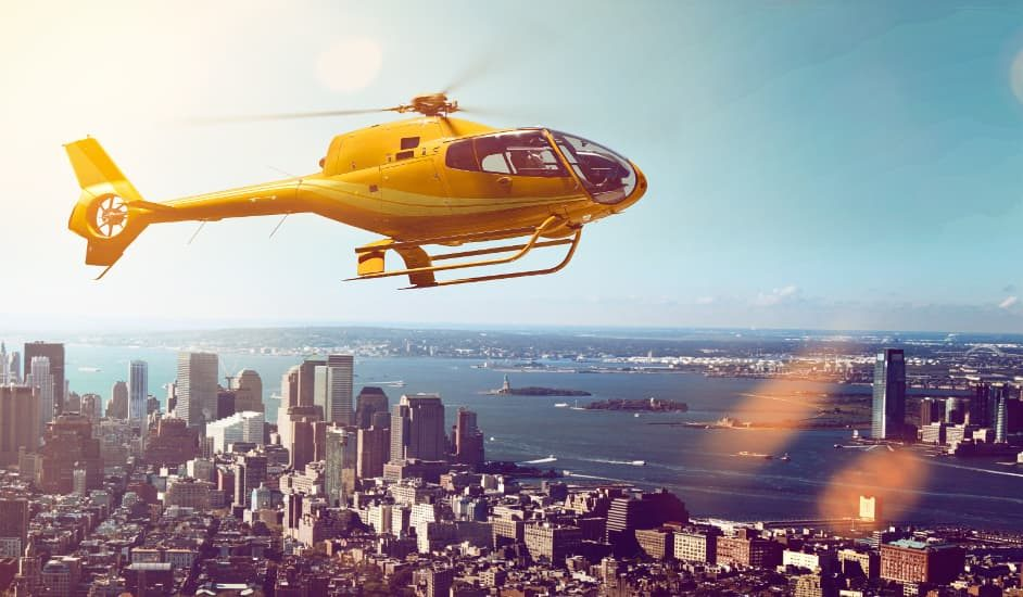 Vistas que se pueden disfrutar durante el tour en helicóptero por Nueva York