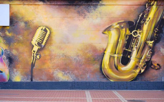 Grafiti jazz representando la multiculturalidad de Nueva York